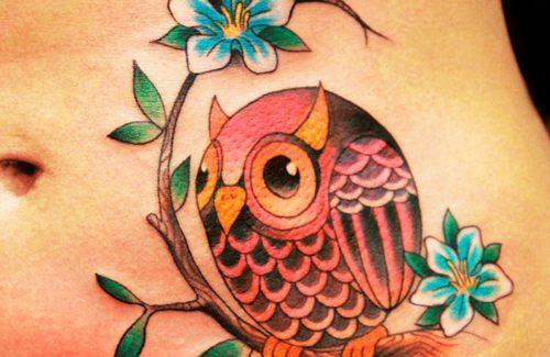 tatuaje buho vientre evolution tattoo