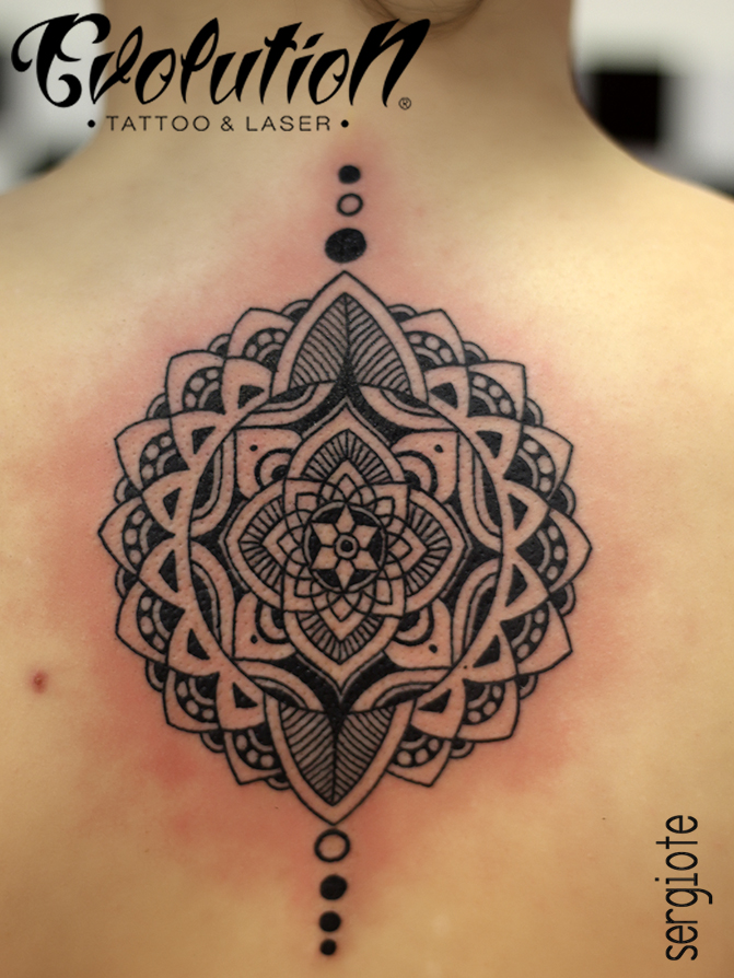 mandala evolution tattoo tatuaje