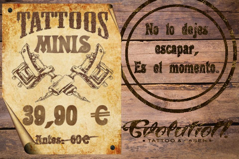 cartel promocion tatuajes minis