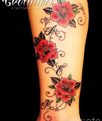 enredadera de rosas rojas, tatuaje de rosas y su significado evolution tattoo
