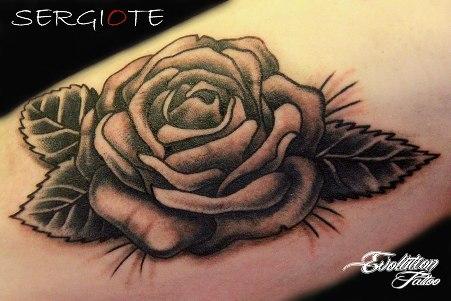 rosa blanco y negro evolution tattoo tatuaje de rosa y su significado